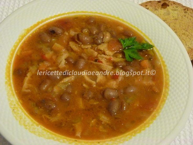 Le    ricette    di    Claudia  &   Andre : Zuppa di trippa con fagioli