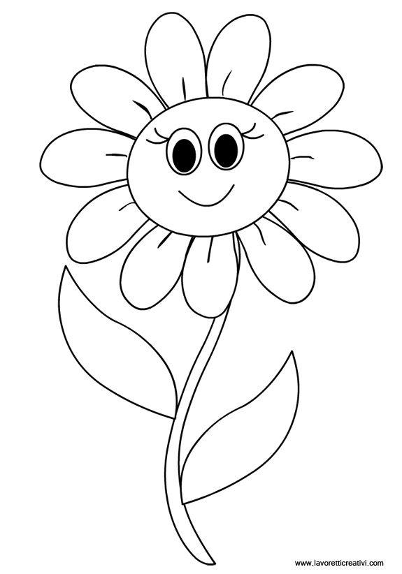 Květina - omalovánka