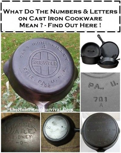 Numbers & Letters on Cast Iron and What They Mean | The Homestead Survival