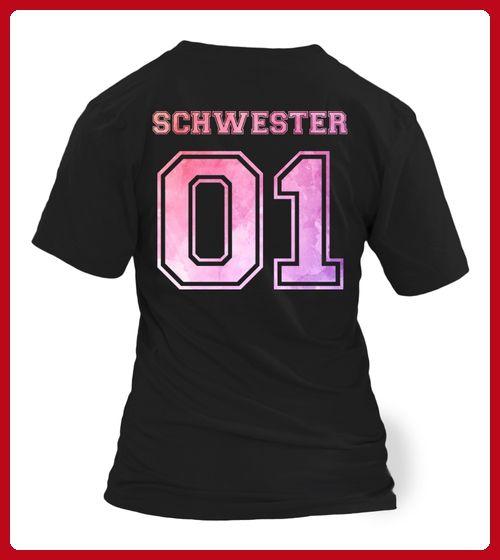 Schwester 01 Vintage Sister Familie Geburt Kind Schwangerschaft Geschenk - Shirts für große schwester (*Partner-Link)