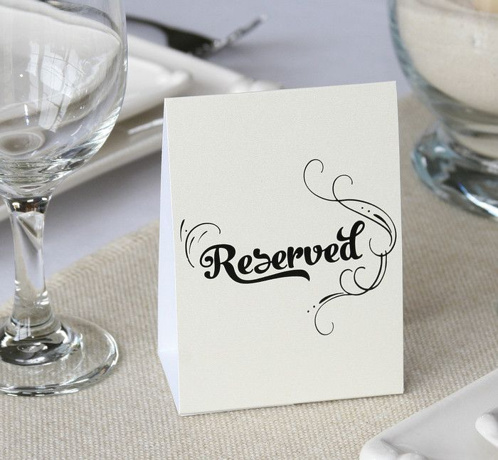 Reserved Table Tents - Pack of 10