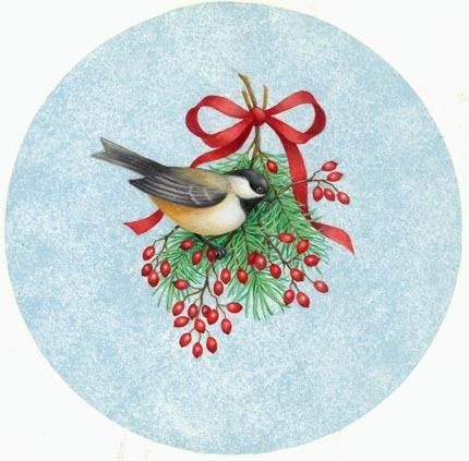 CHRISTMAS CHICKADEE CLIP ART