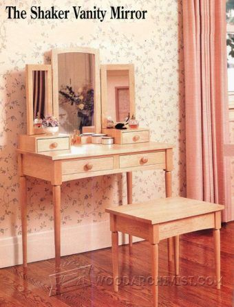 2548-Шейкер Зеркало На Туалетном Столике Планы