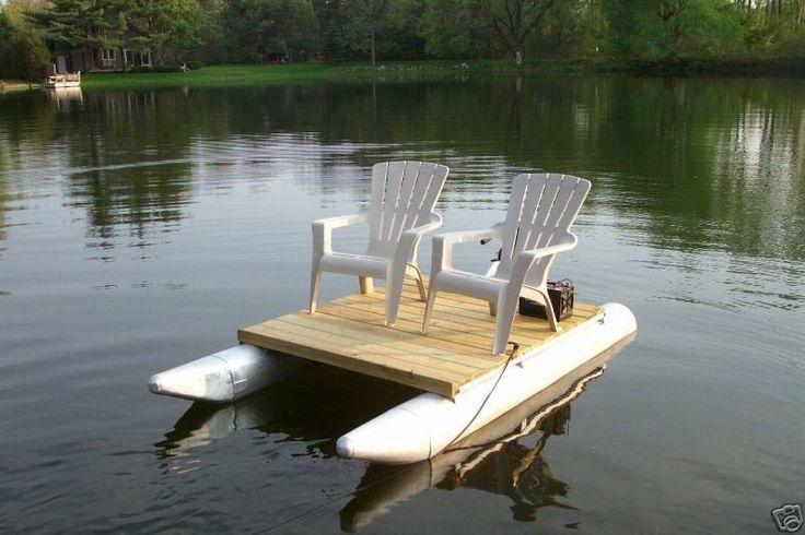 Pontoon Pontoons Deck Chairs Trolling Motor Float On