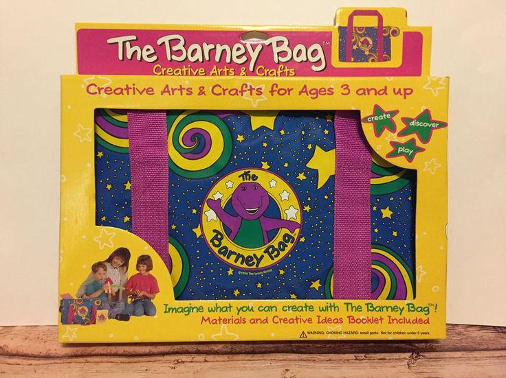 the barney bag 1994 creative arts crafts nib complete. Black Bedroom Furniture Sets. Home Design Ideas