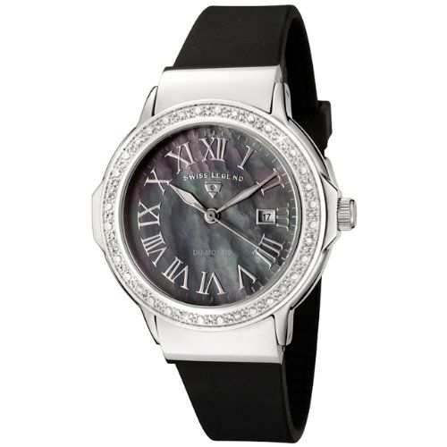 Swiss Legend Women's 20032D-01 South Beach Collection Diamond Accented Black Rubber Watch -  $69.99 - SAVE 93%