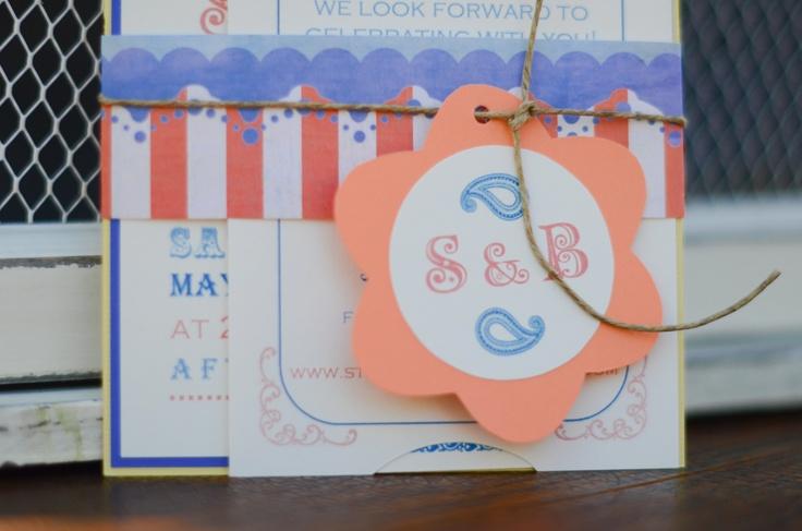 carnival wedding invitation designsbymcs.wix.com/invitations