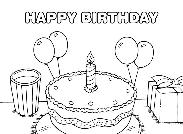 little birthday girl cake coloring page - Birthday Coloring Pages Girls