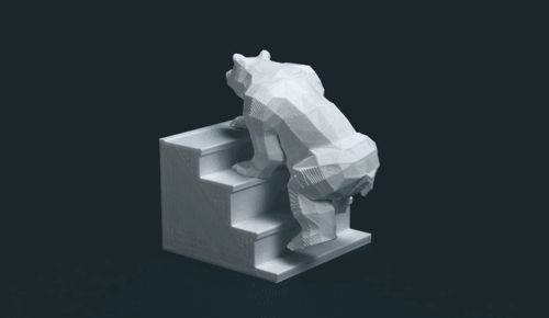 Bears on Stairs: A Stop Motion Animation Created from 3D Printed Frames