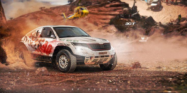 Skoda Kodiaq a.k.a Dakar Special by erpydesign.deviantart.com on @DeviantArt