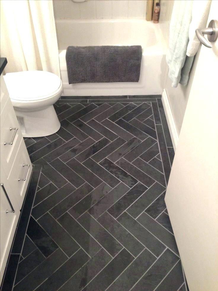 Charcoal Tile Bathroom Floor Grey Herringbone Tile Floor Photo 1 Of Charcoal Gray Herringbone Hon Slate Bathroom Floor Small Bathroom Remodel Bathrooms Remodel