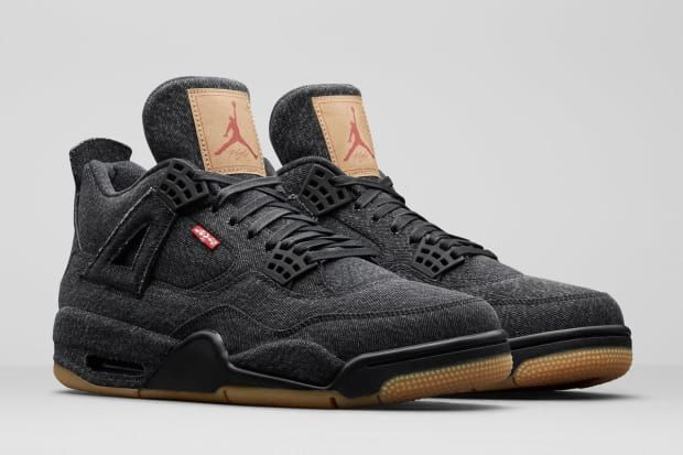 Black and White Colorways of the Levi's x Air Jordan 4 Arrive This ...