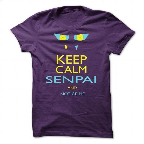 Senpai Notice Me - #pullover #design t shirt. MORE INFO => https://www.sunfrog.com/Gamer/Senpai-Notice-Me-119139183-Guys.html?60505