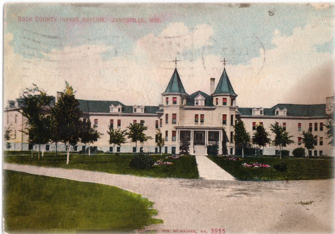 Rock County Insane Asylum, Janesville, Wisconsin: