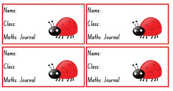 A series of seven unique workbook labels for student workbooks. These labels offer an economical way to label class workbooks. Simply cut out and stick on workbook covers.Publisher file format allows the labels to have student names and classes typed on.