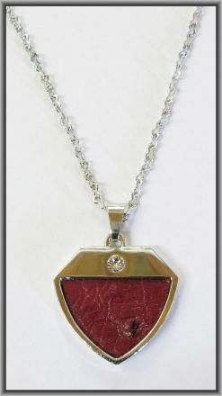 Ostrich leather crystal small pendants - Campari OPSB04