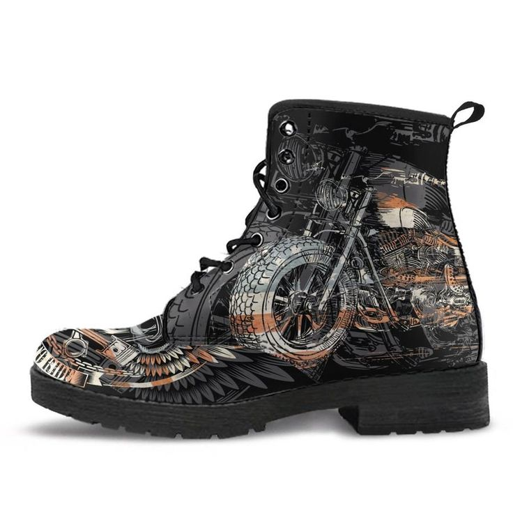 Custom Print Biker Boots for Men and Women