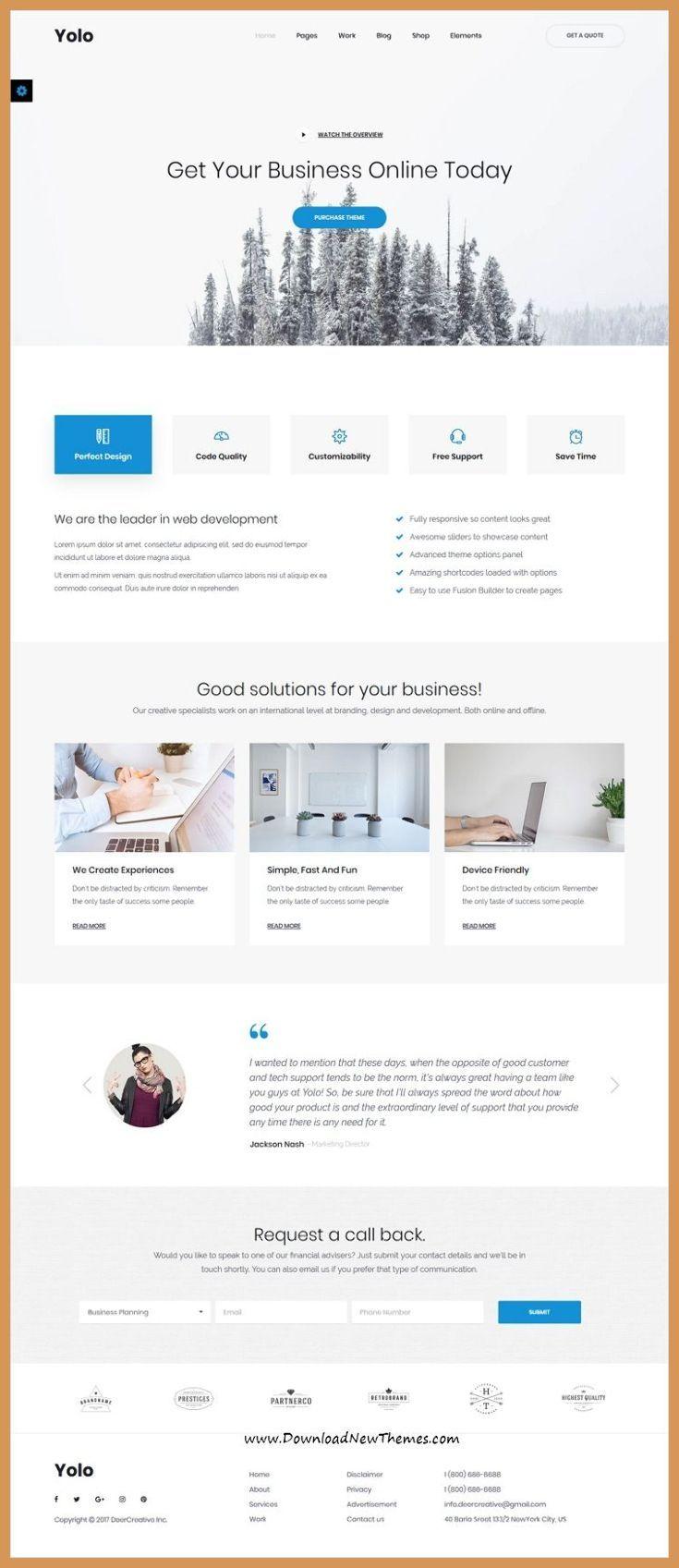 Responsive Web Design Boostrap Yolo Is Clean And Modern Design Responsive Multipurpose Bo Disenos De Unas Imagenes De Marcas Diseno Web