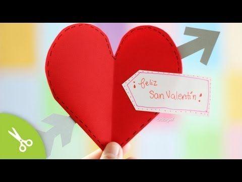 ▶ Tarjeta Express 14 Febrero: Corazon flechado - YouTube
