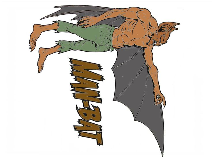 Man Bat Coloring Book Page
