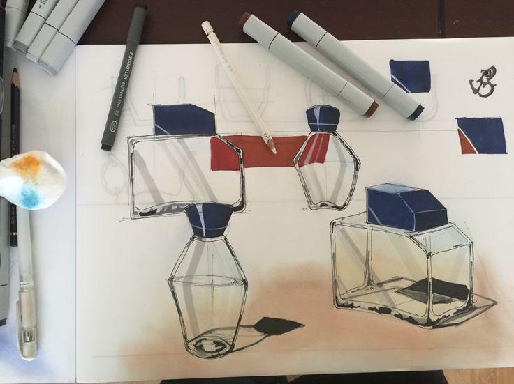 Sketching glass