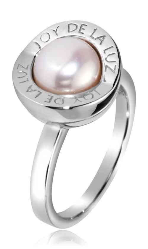 Joy de la Luz | Ring logo silver/pearl  €60,00