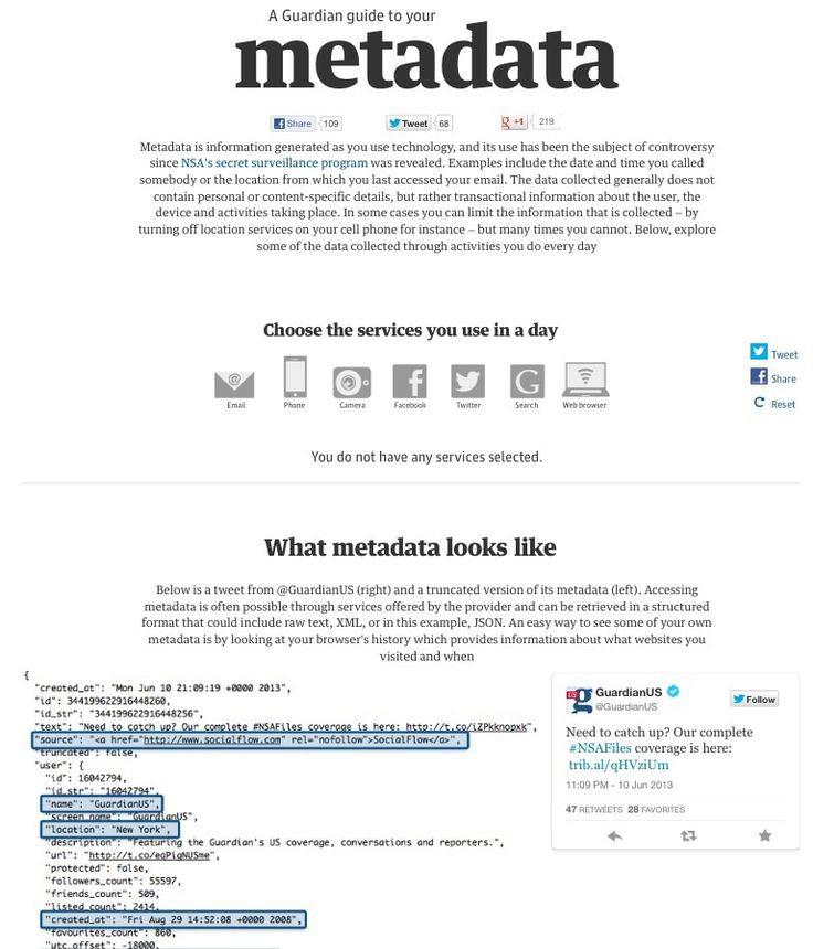 A (short) Guardian guide to metadata | Semantic Web | metadata | infographic : 2 | ram2013