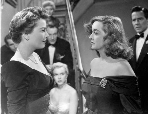 """Bette Davis and Anne Baxter in """" All About Eve"""""""