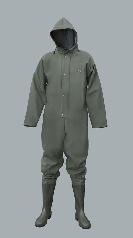 104 K Regenoverall Rain suit Rain Suit PVC Combi Profile sole Rubber catsuit new