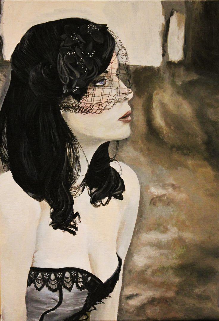 """Black Widow"" Acrylic on Canvas"