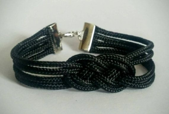 Check out this item in my Etsy shop https://www.etsy.com/listing/272532828/black-sailors-knot-bracelet