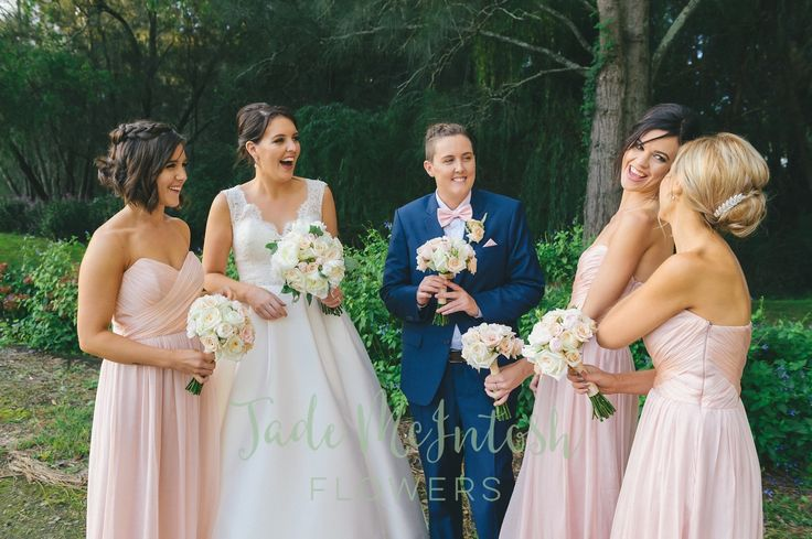 All bridal parties should laugh this much. www.jademcintoshflowers.com.au