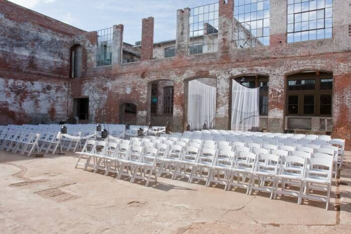 McKinney Cotton Mill has been re-purposed and is a gorgeous venue for weddings and sessions. Call ahead regarding scheduling and fees.