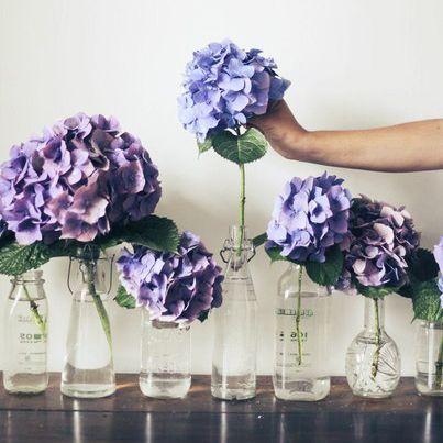 Восприятие цветка часто зависит от правильно подобранной вазы. Не спешите избавляться от бутылок из–под вина, оливкового масла, необычных баночек и тюбиков от духов. Из них могут получиться простые и аккуратные вазы для любимых пионов, тюльпанов и гортензий.