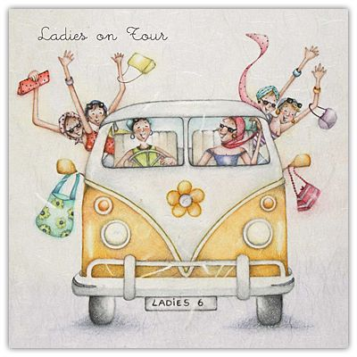 Ladies On Tour Female Birthdat Card - £2.95 FREE UK delivery! Make Your Purchase : http://www.pippins.co.uk/brands/berni-parker-designs-ladies-men-who-love-life-birthday-cards/ladies-on-tour-female-birthday-card-ladies-who-love-life-berni-parker-designs.html