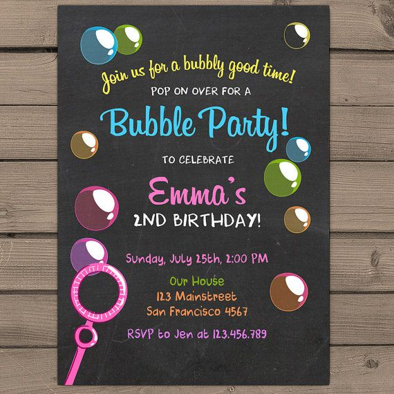 Hey, I found this really awesome Etsy listing at https://www.etsy.com/listing/237506346/bubble-birthday-party-invitation-bubble