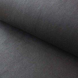 Cotton Jersey Rib: Black. 3m x 126cm