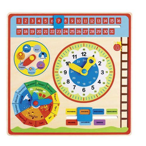 Kalenderklok hout - Educatief - Baby- & Peuterspeelgoed. Goedkoop speelgoed kopen? Bestel online op onze officiële website of ga naar een van de TOP 1 TOYS winkels voor het grootste assortiment goedkoop speelgoed. - 493-0027