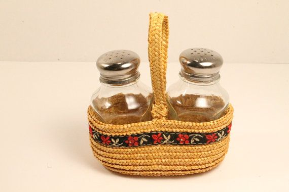 Salt & Pepper Shakers Glass Salt and Pepper by ClockworkRummage, $10.00
