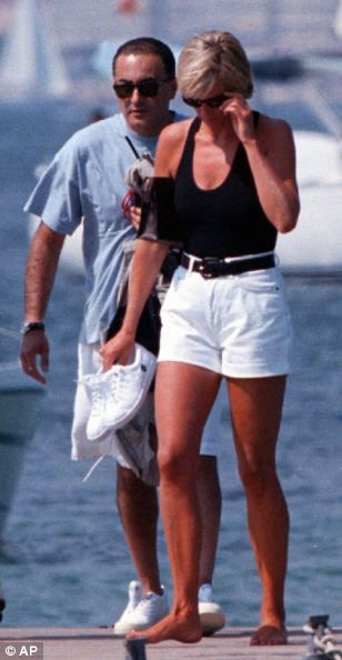 Princess Diana with Dodi Fayed in 1997, just before her fateful death.