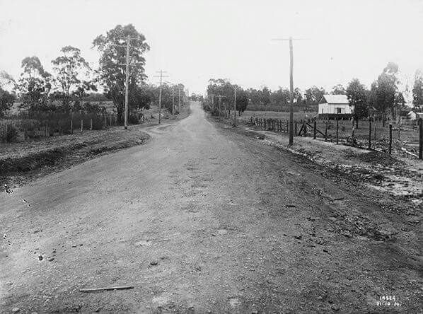 Blacktown Road before construction  21 October 1930. State Records of NSW.