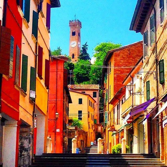 Colorful Santarcangelo di Romagna - Instagram by maghymolnar