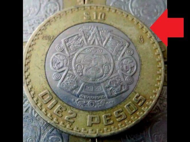 Coleccionistas pagan hasta mil pesos por peculiar moneda de 10 -