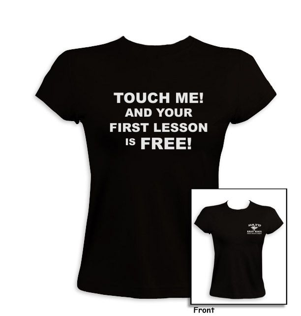 Krav Maga-Your First Lesson is Free Women T-Shirt | Krav Maga | israeli-T.com