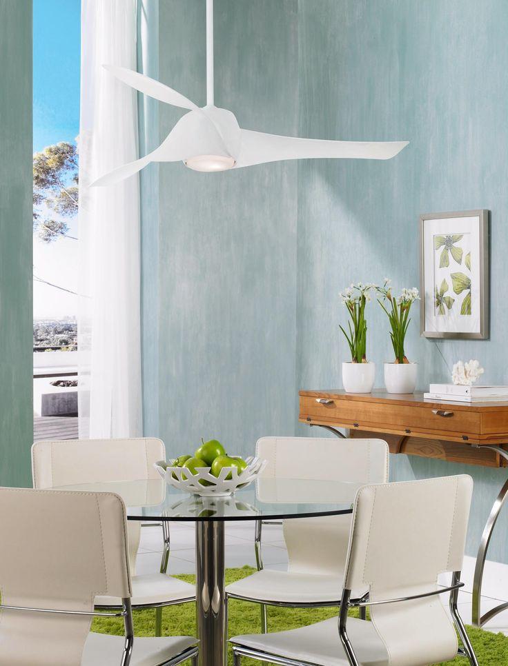 "58"" Artemis High Gloss White Ceiling Fan"