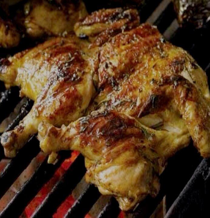 Frango Chourasco - Portuguese Grilled Chicken under a Brick