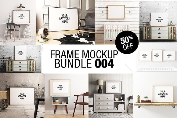 Frame Mockup Bundle 004 - 50% OFF by positvtplus on @creativemarket