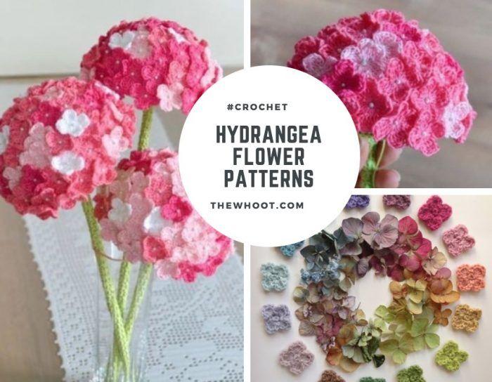 Crochet Hydrangea Flower Pattern Free Video Tutorial With Images Crochet Flower Patterns Crochet Flowers Flower Patterns