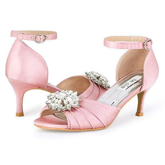 SheSole Womens Low Heel Dress Sandals