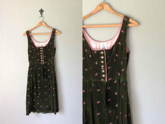 Vintage Z VOM TEGERNSEE Dress / 1960s Clothing / by BluegrassBooty, $144.00